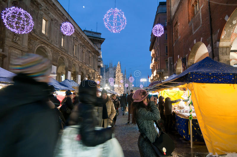 Christmas photography in Milan stock photography