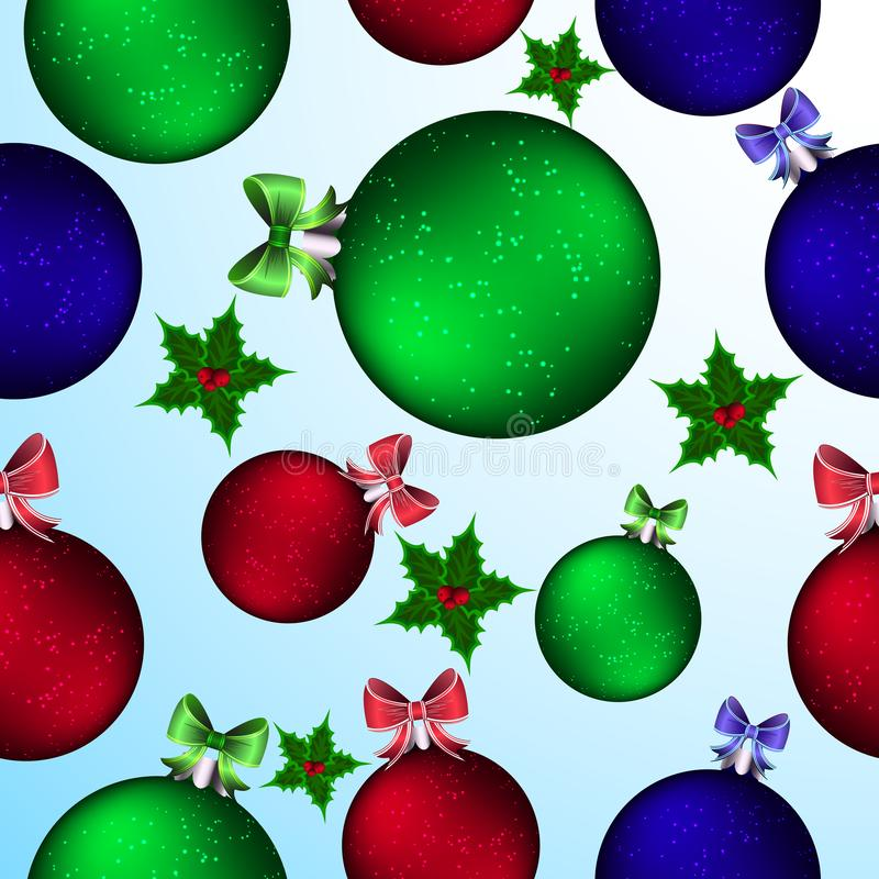 Christmas picture. Christmas tree balls. Seamless patterns. Vector illustration.Bright and beautiful background royalty free illustration
