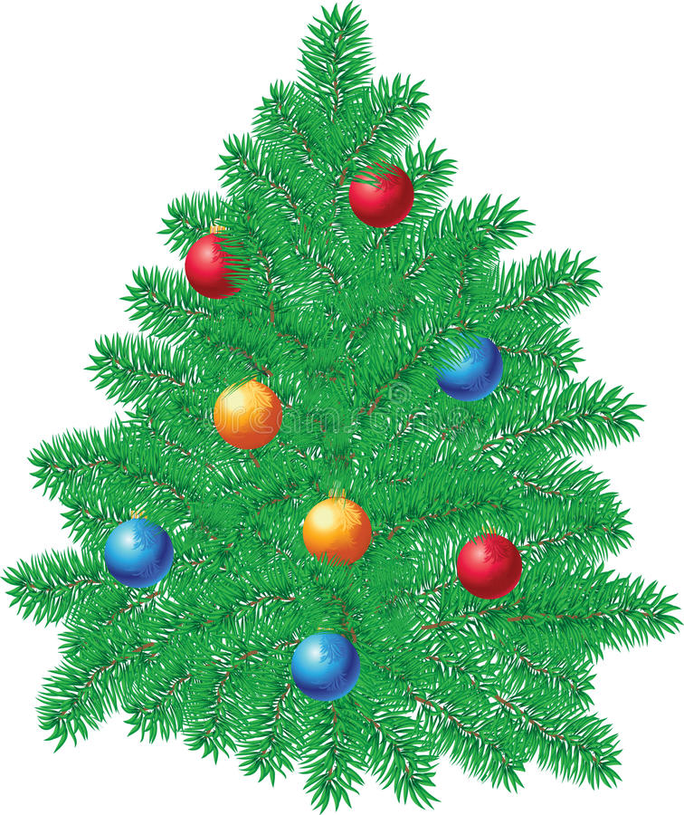 Download Christmas pine decoration stock vector. Image of curve - 10875590
