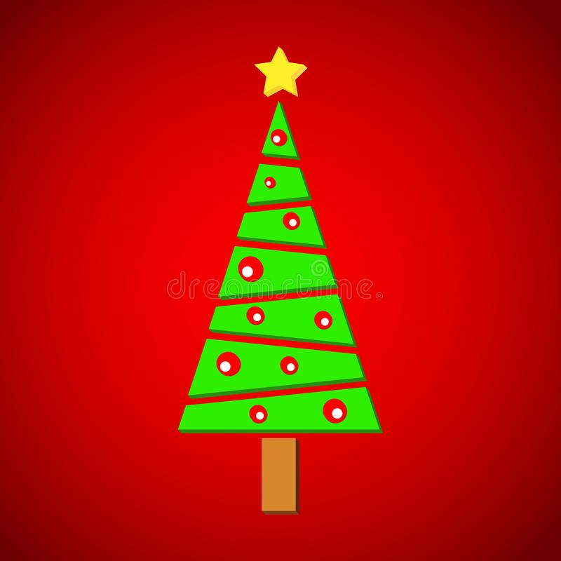 Christmas pine on red background royalty free stock image
