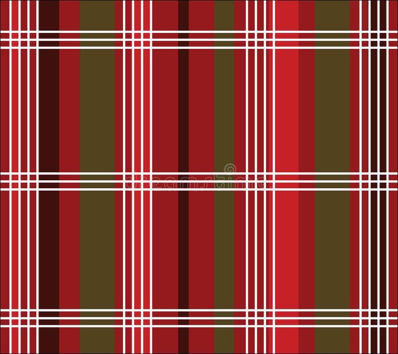 Christmas Plaid royalty free illustration