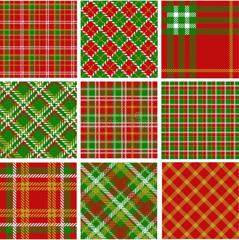 Christmas plaid patterns vector illustration