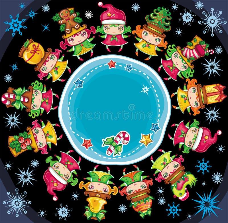 Christmas planet vector illustration