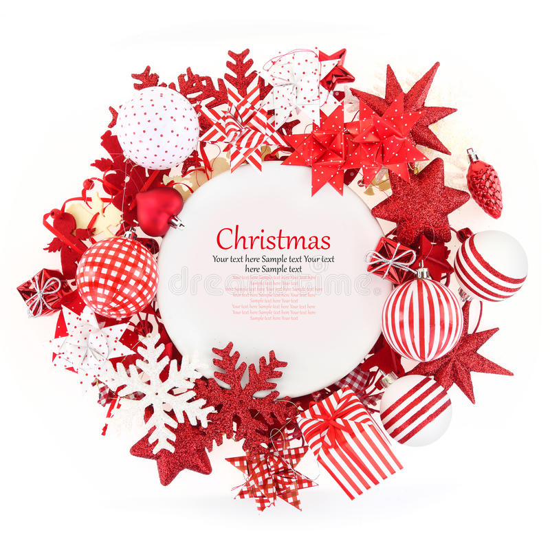 Download Christmas plate stock photo. Image of copy, christmas - 35225504
