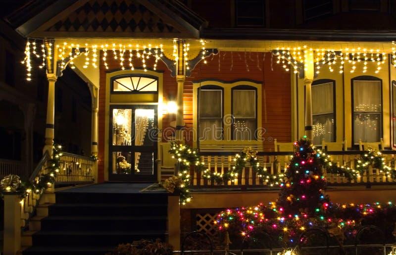 christmas porch victorian στοκ φωτογραφία με δικαίωμα ελεύθερης χρήσης