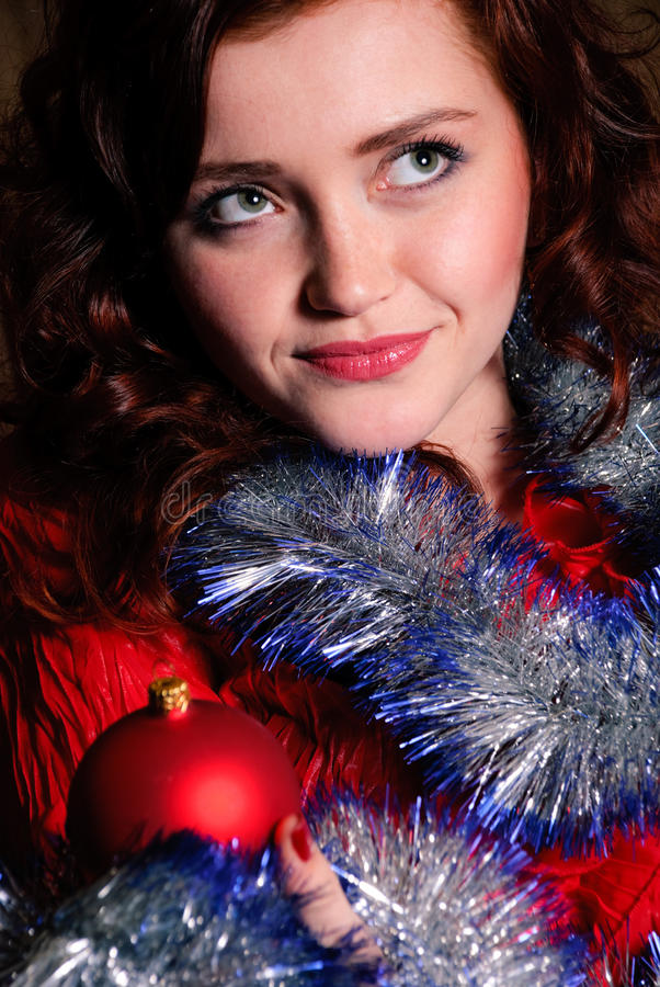Download Christmas portrait stock photo. Image of enigmatic, adult - 12234756