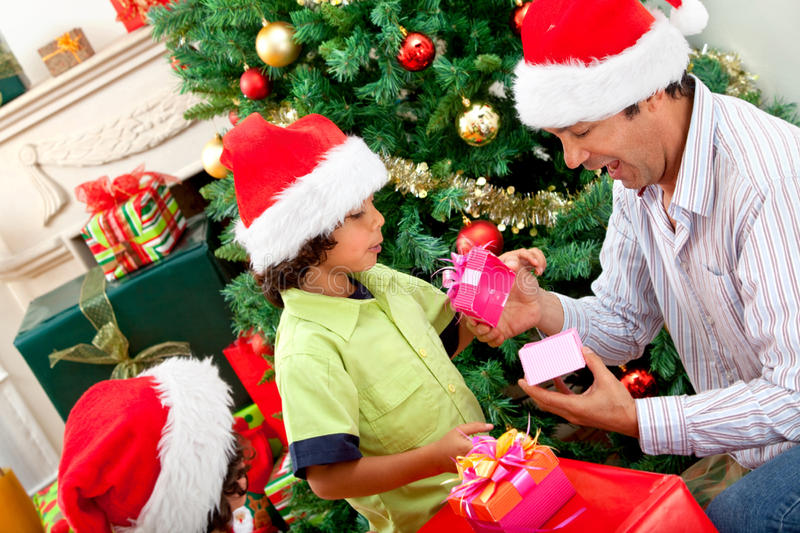 Download Christmas portrait stock photo. Image of children, present - 14400060