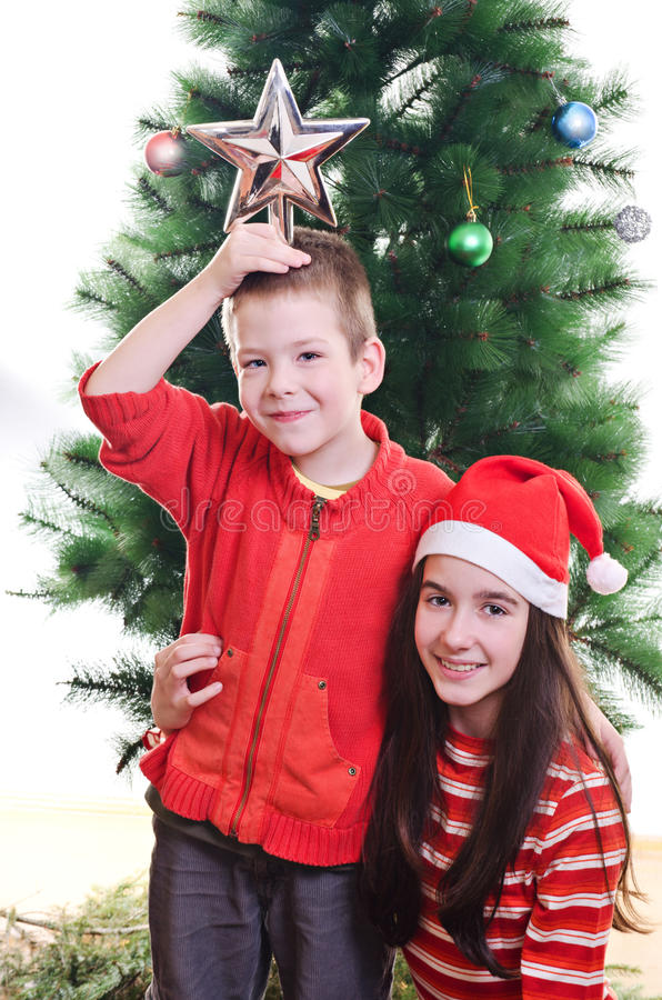 Download Christmas portrait stock image. Image of five, happiness - 27630345