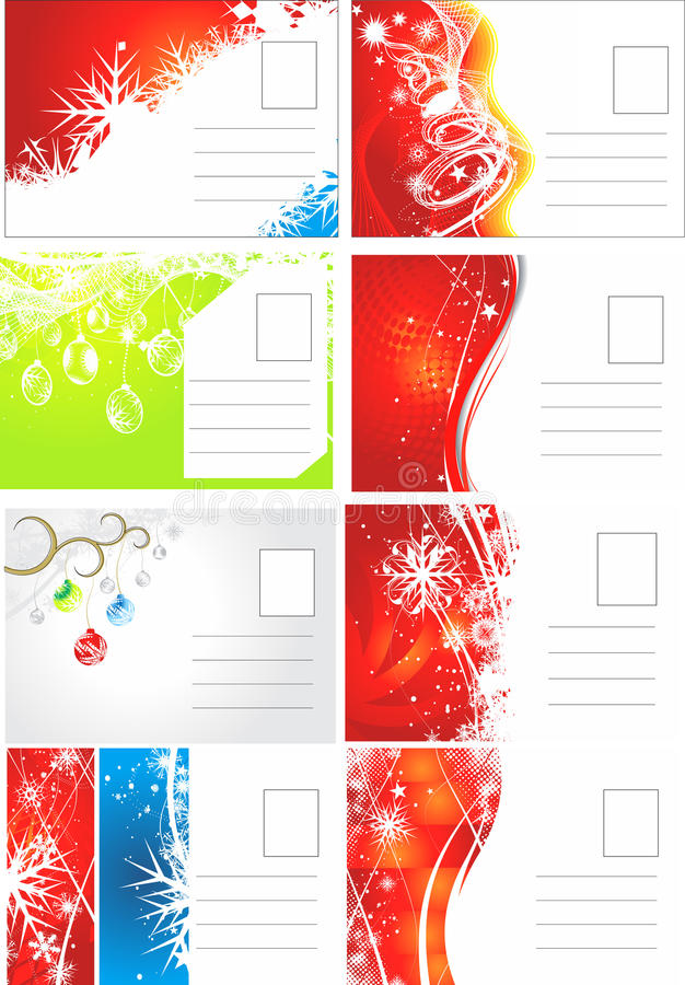 Download Christmas post card stock vector. Image of backside, background - 16906315
