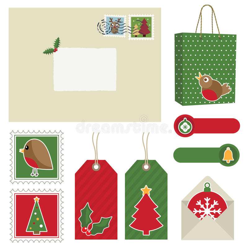 Download Christmas postage stock vector. Image of tree, star, stamp - 16583102