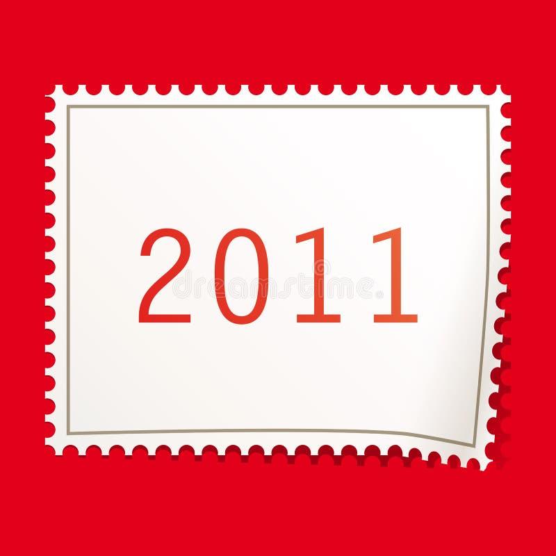 Christmas postage stamps. royalty free stock image