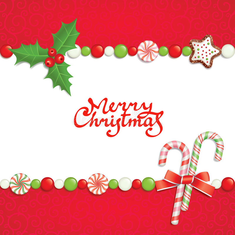 Christmas postal royalty free illustration