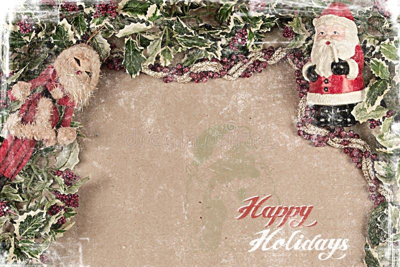 Christmas postcard 2012 stock image