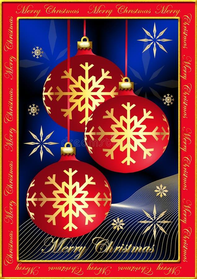 christmas postcard στοκ φωτογραφία