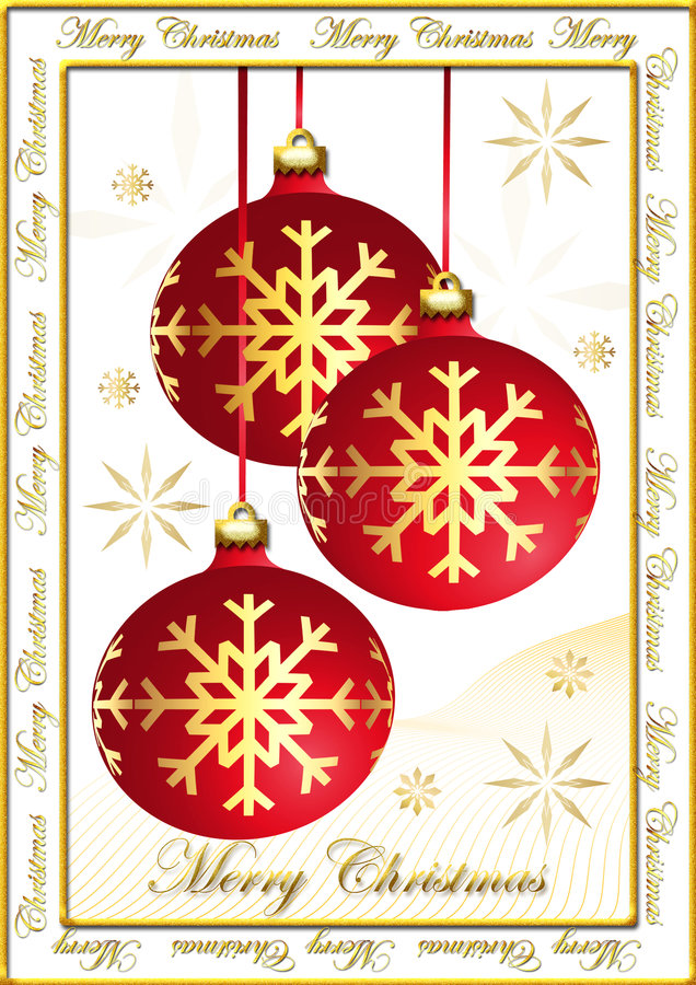 christmas postcard στοκ εικόνα με δικαίωμα ελεύθερης χρήσης