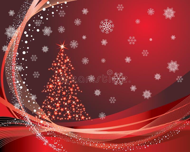 Christmas postcard royalty free illustration