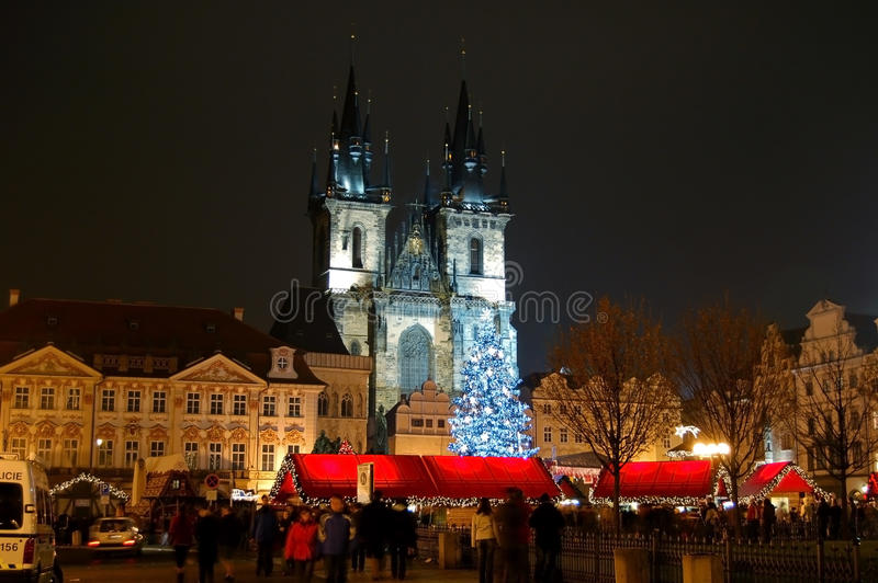 Christmas in Prague stock image