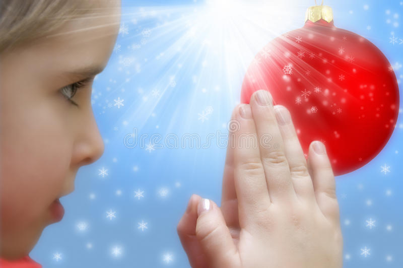 Christmas prayer stock image