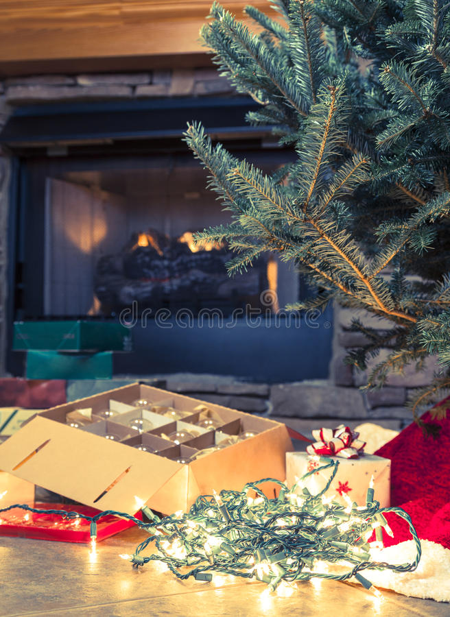 Christmas Preparations Royalty Free Stock Photos