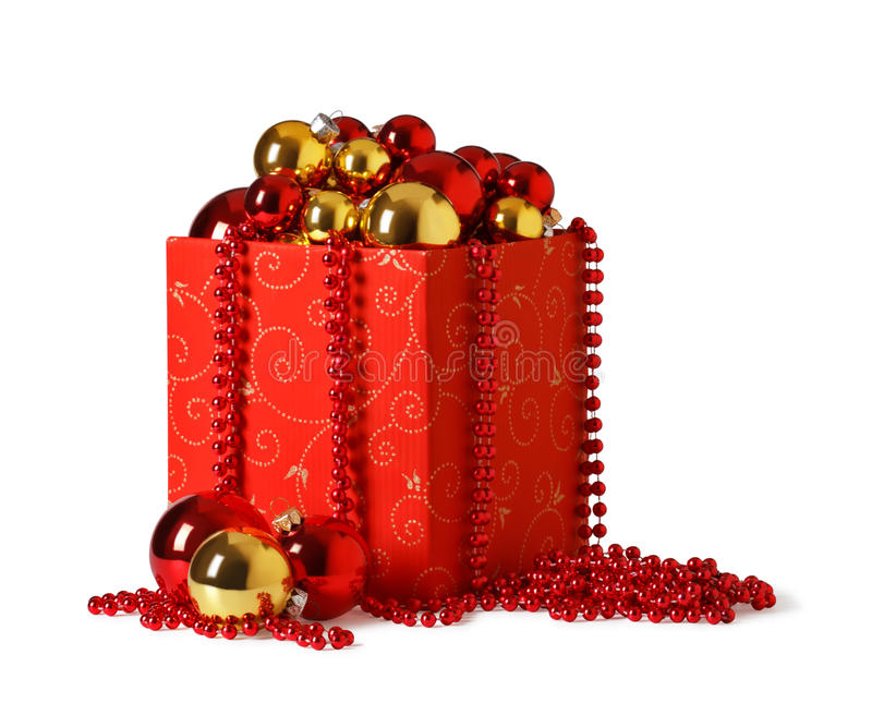 Download Christmas present. stock image. Image of isolated, ornament - 16876327