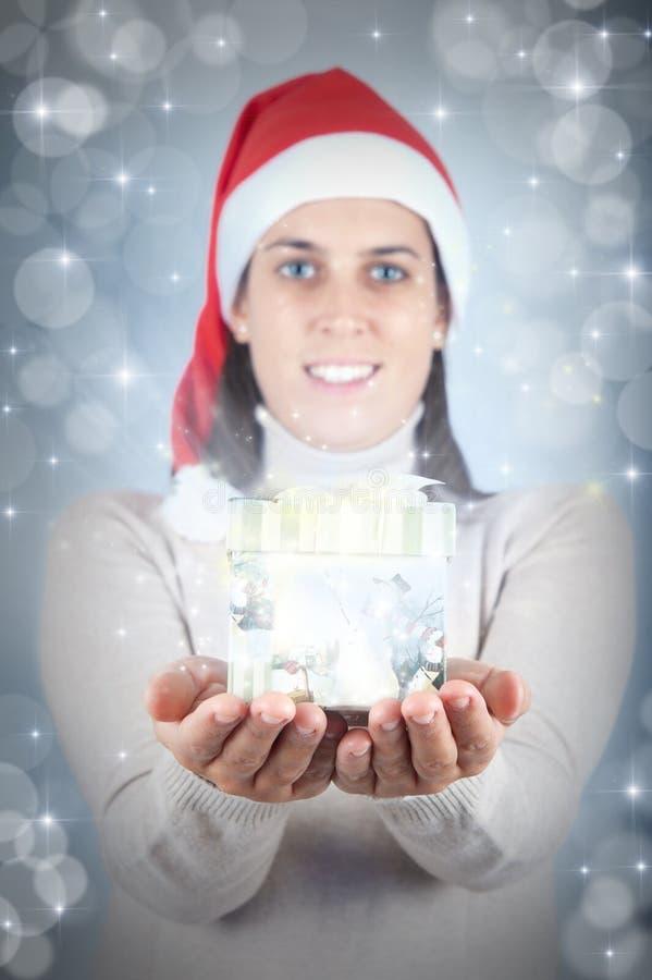 Download Christmas present stock image. Image of celebration, female - 22042435