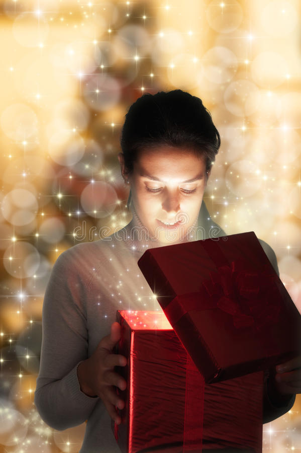 Download Christmas present stock image. Image of magical, glowing - 22057137