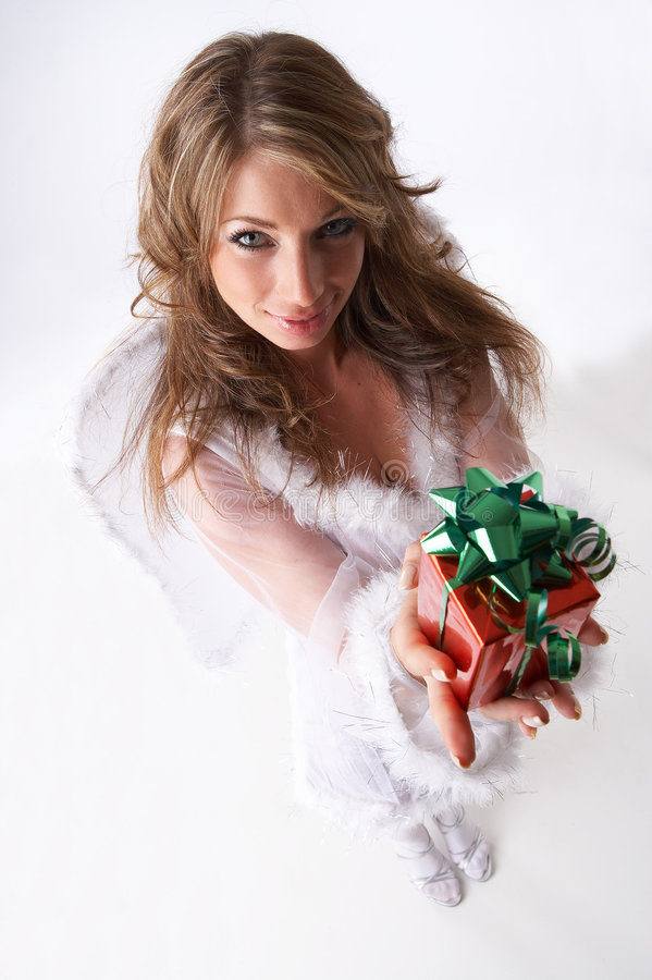 Download Christmas present stock photo. Image of female, adorable - 3492816