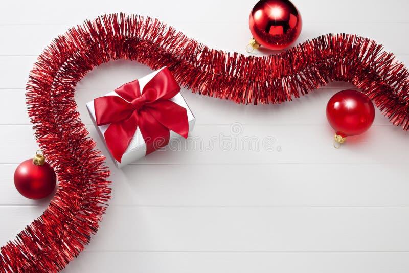 Christmas Present White Background royalty free stock photos