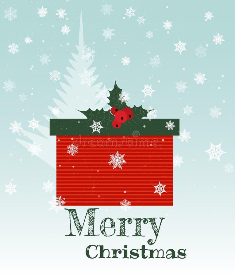 Christmas present box vector illustration
