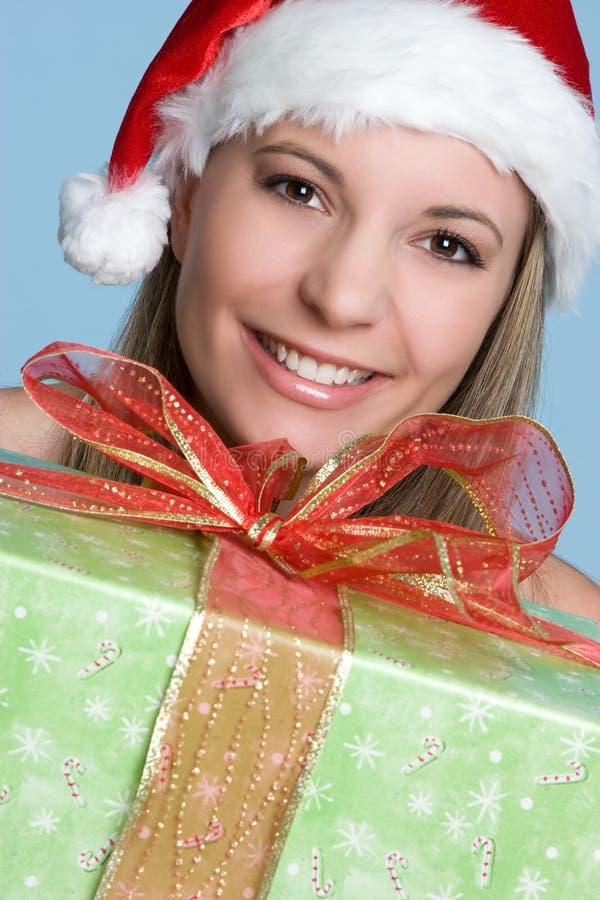 Christmas Present Girl stock image
