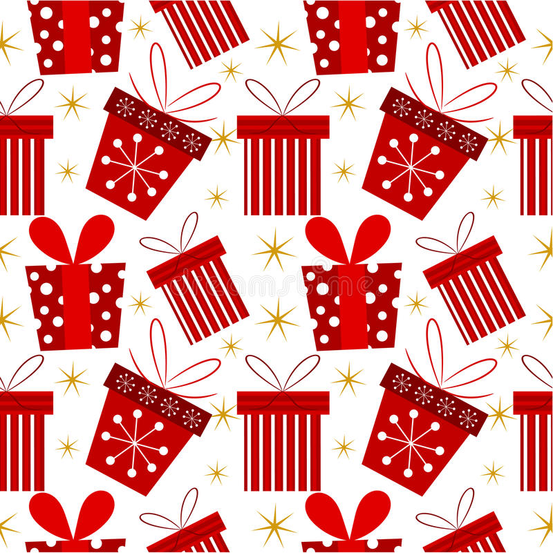 Download Christmas present pattern stock vector. Image of ribbon - 27388632