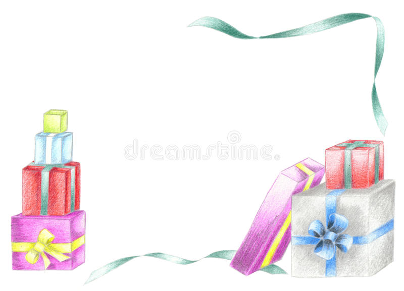 Download Christmas presents stock illustration. Illustration of gifts - 16215564