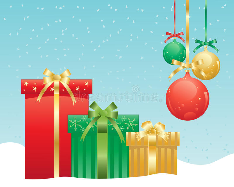 Download Christmas presents stock vector. Illustration of baubles - 26387327
