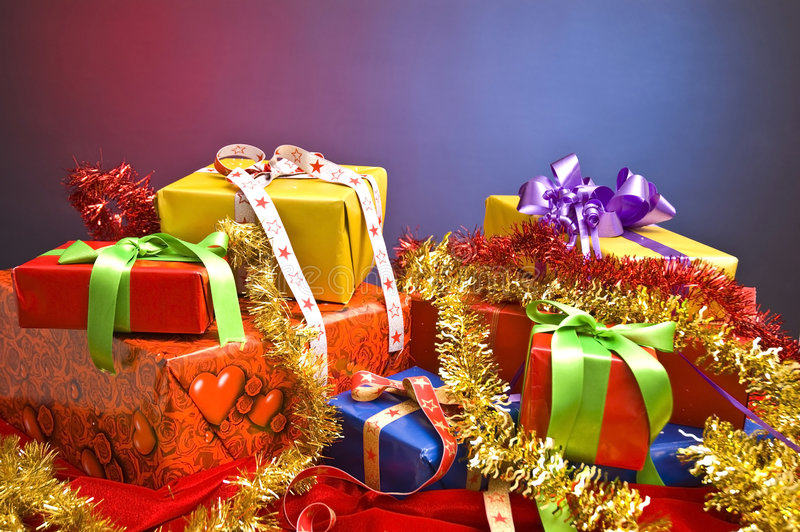 Christmas presents royalty free stock images