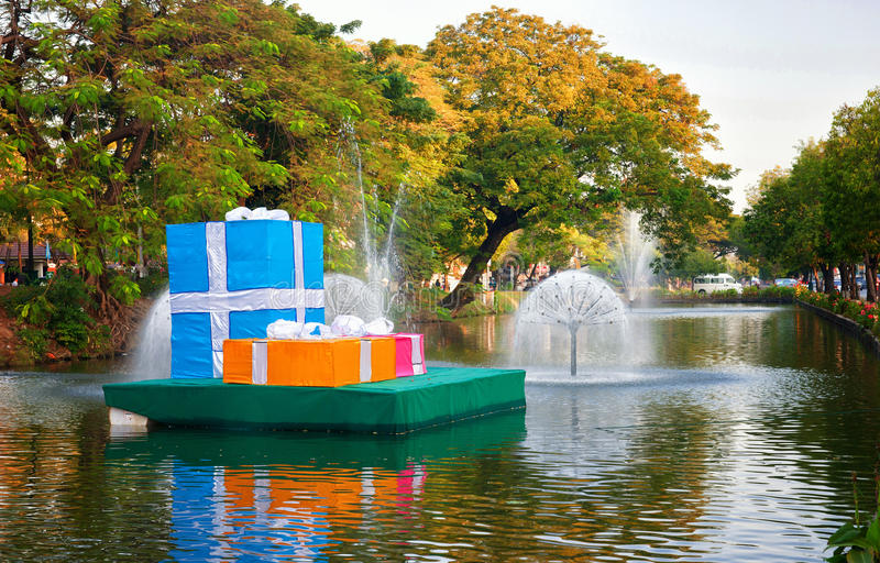 Download Christmas Presents In Chiang Mai Stock Photo - Image: 25525458