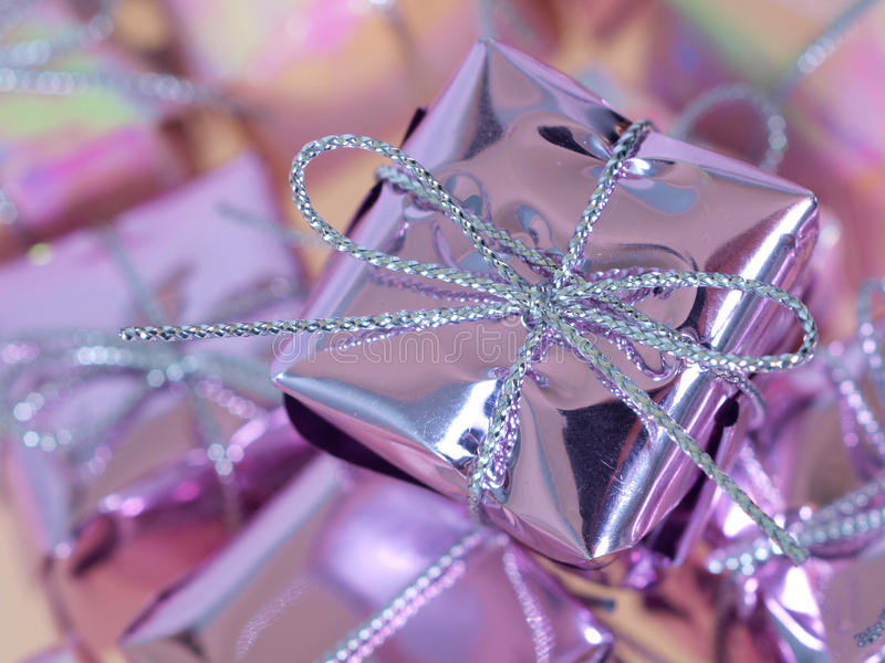 Christmas Presents Closeup Royalty Free Stock Photos