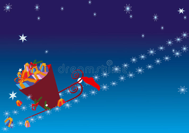 Christmas_presents_delivery royalty free stock photo