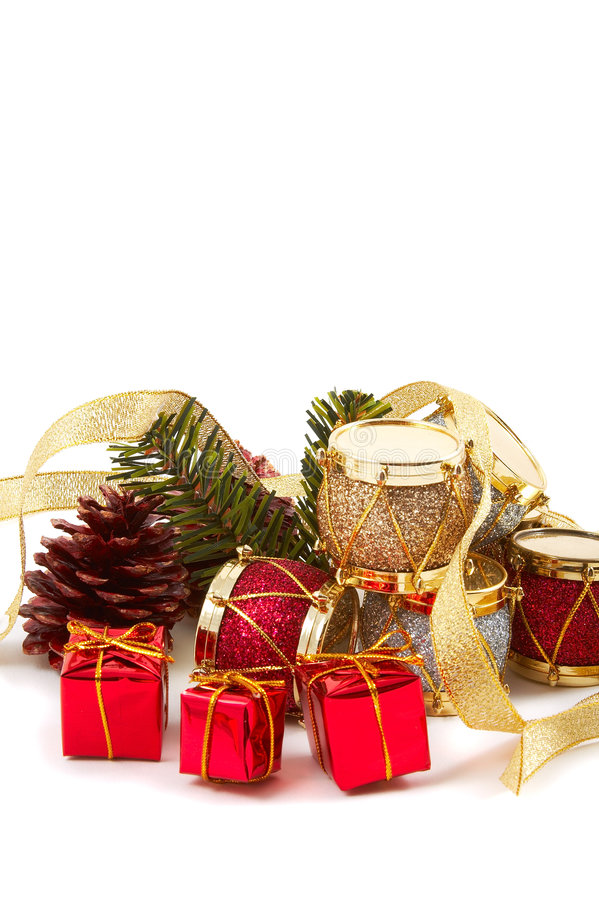 Free Christmas Presents, Drums, Pine Cone Stock Photography - 3667182