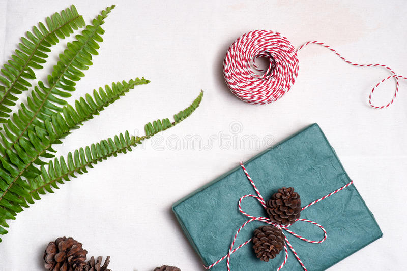 Christmas presents. Hand crafted gift. royalty free stock photos