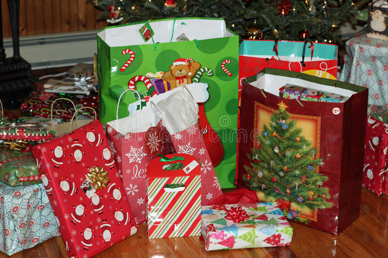 Christmas presents. Just waiting to be opened royalty free stock image