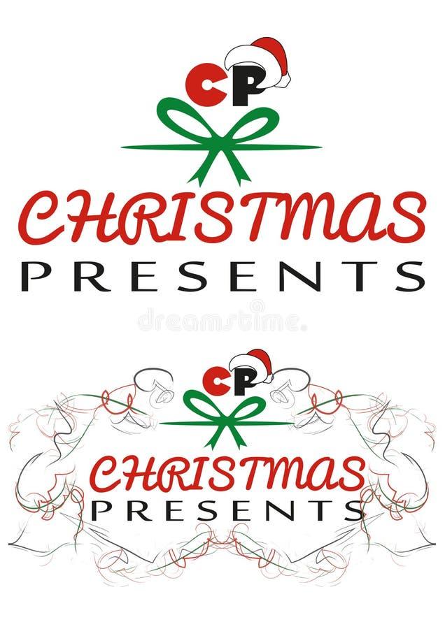 Christmas Presents logo stock photo