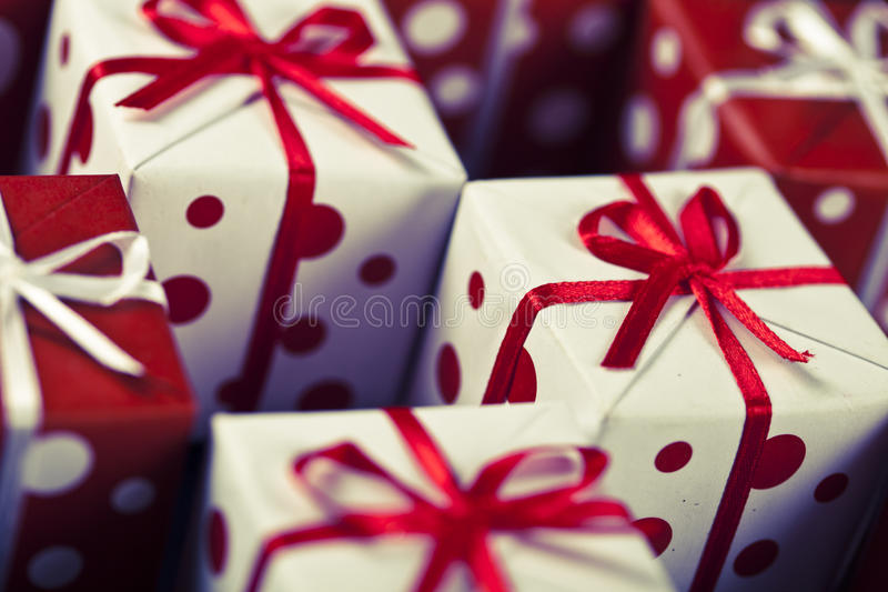 Christmas Presents set stock images
