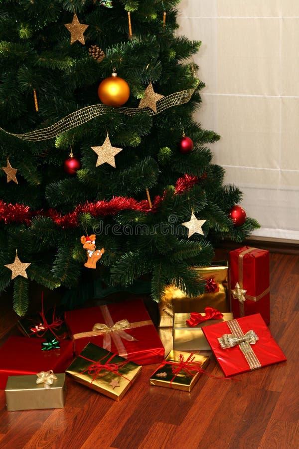 Christmas Presents Under Tree Stock Photos