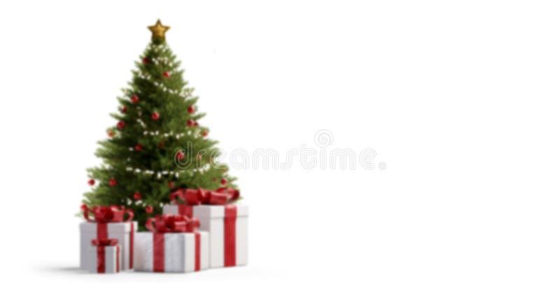 Christmas presents under a tree 3d-illustration stock illustration