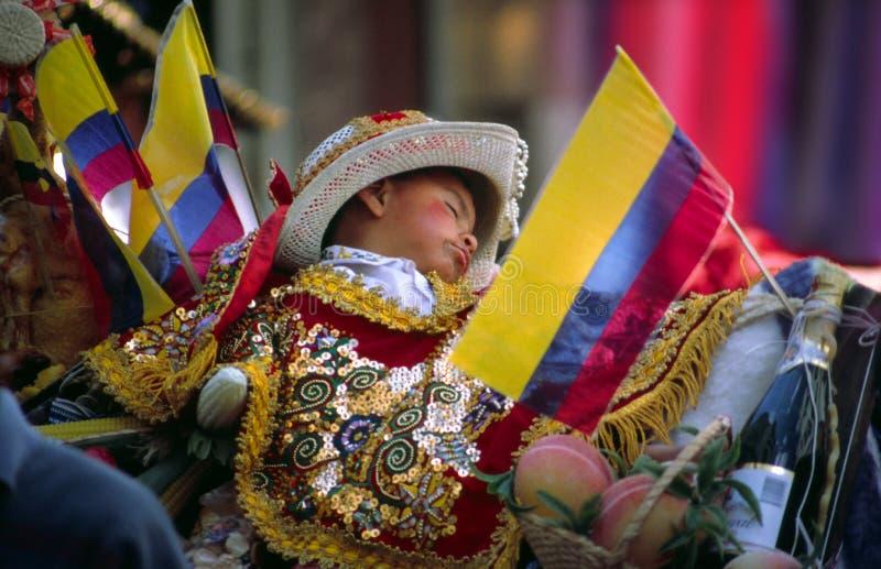 Christmas procession Ecuador stock images