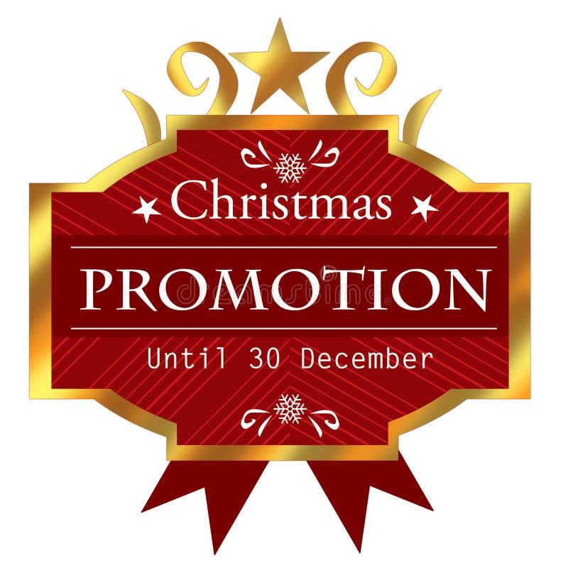 Christmas promotion icon stock photos
