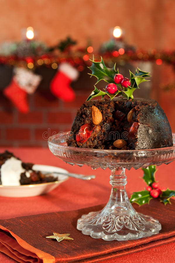 Christmas Pudding stock photo