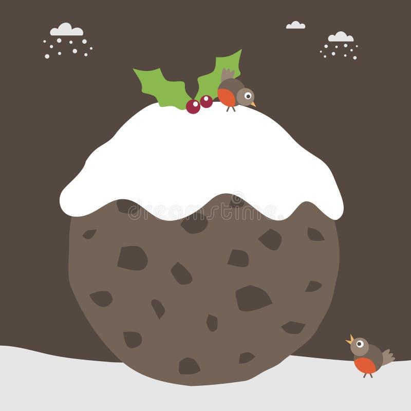 Christmas pudding royalty free illustration