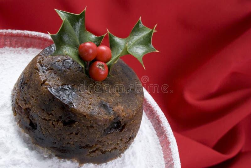 Christmas pudding stock image