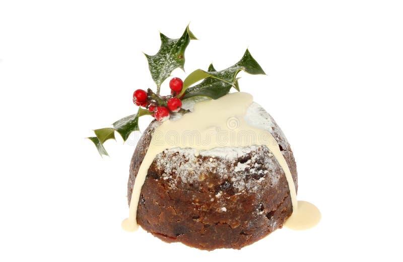 Download CHristmas Pudding With Cream Stock Photo - Image of seasonal, xmas: 35818918